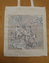 Diana - borsa shopping tote bag - pezzo unico - riciclo creativo