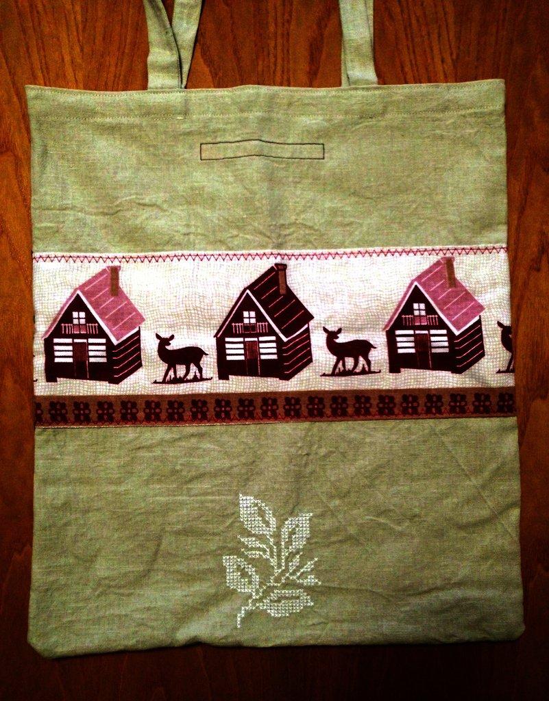 Needles at dawn - ferri corti all'alba - borsa shopping tote bag - pezzo unico