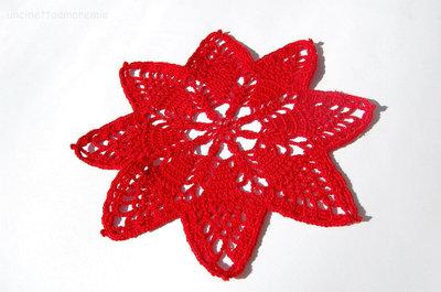 Decorazioni Natale: sottopiatto a forma di stella in rosso