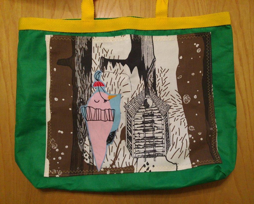 Il corvo Pop - borsa shopping tote bag - pezzo unico