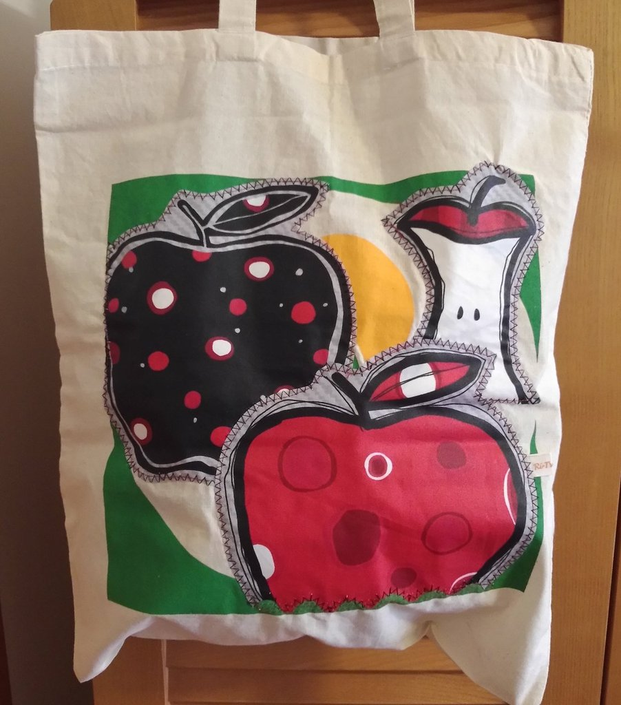 Apple pie - borsa shopping tote bag - pezzo unico
