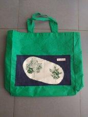 SAVERIA - borsa shopping tote bag - pezzo unico
