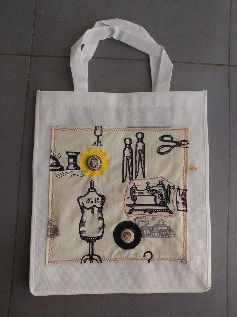 JOI DE VIVRE - borsa shopping tote bag - pezzo unico