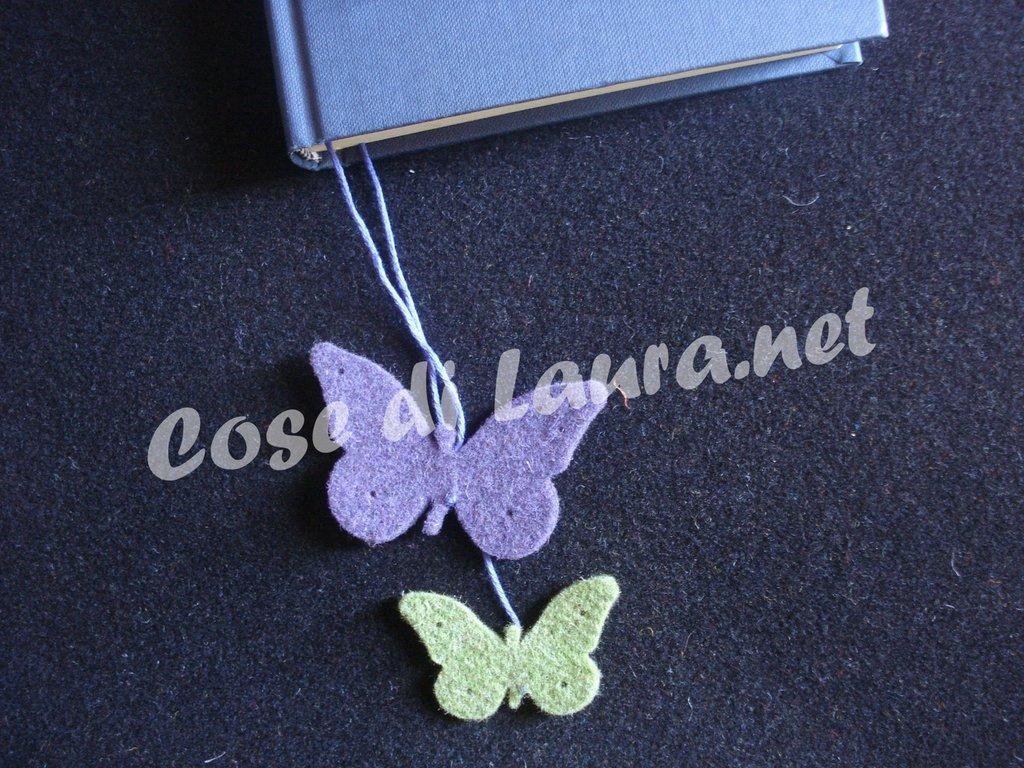 Segnalibro farfalle