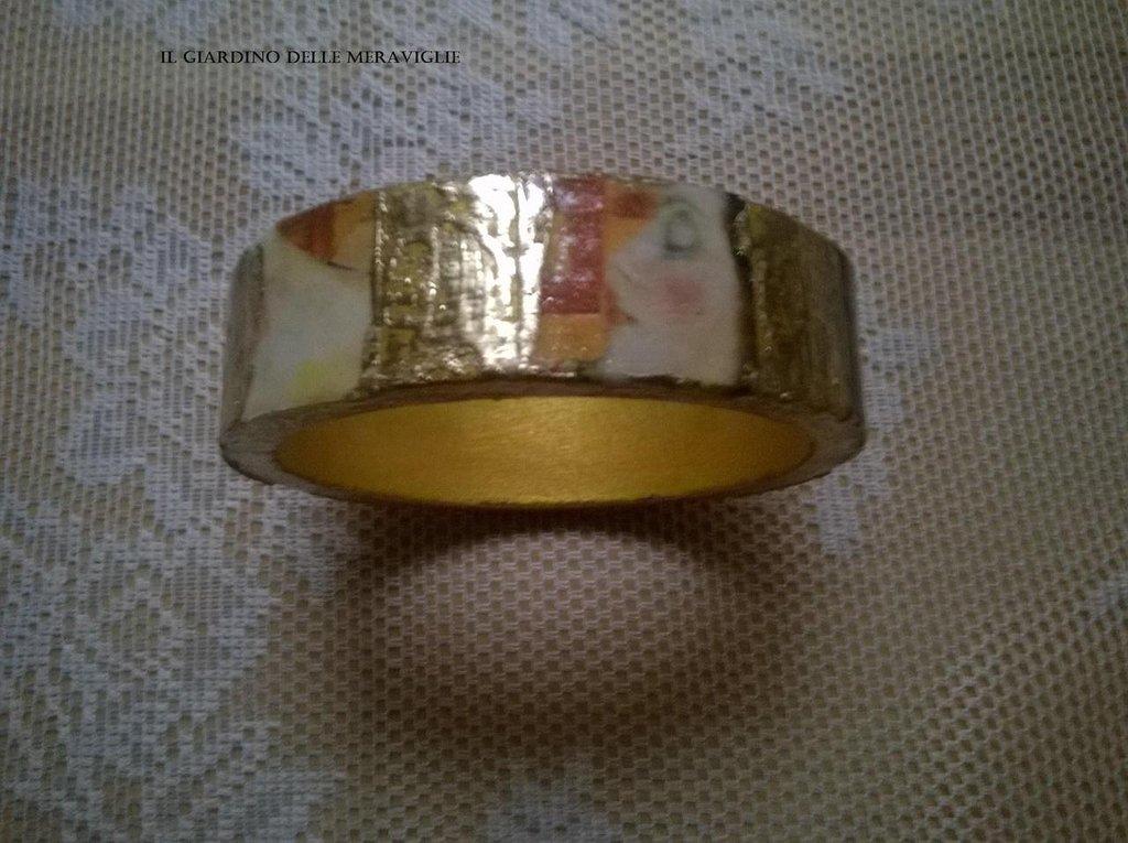 Bracciale Klimt decoupage