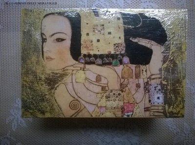 Bauletto oro decoupage