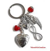 portachiavi infinito cuore ala angelo chiave lucchetto amore