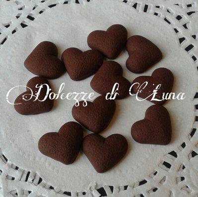 lotto da 5 biscotti batticuore in fimo fatti a mano per decorare cornici,scatole,portafoto o orecchini bracciali