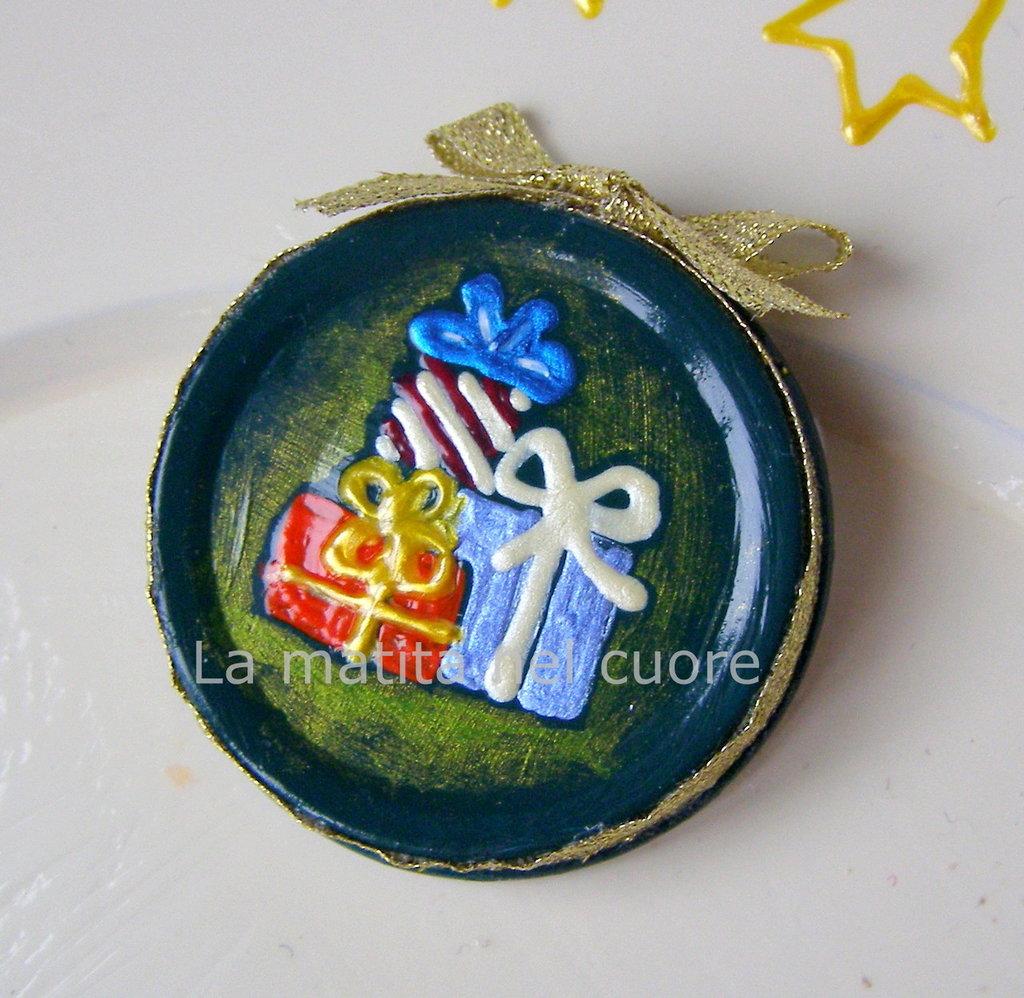 Calamita regali di Natale coperchio dipinto a mano