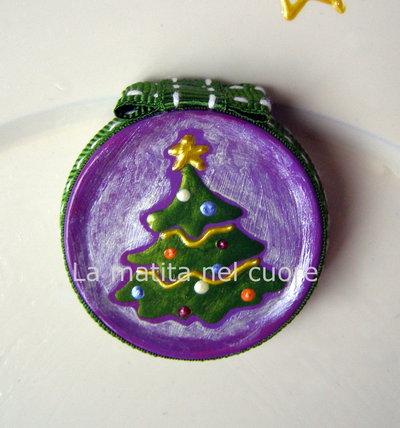 Calamita albero di Natale coperchio dipinto a mano
