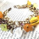 Bracciale, fiori,macaron in fimo,chiave,ali,rose,vintage,moda,Parigi,idea regalo Natale per lei