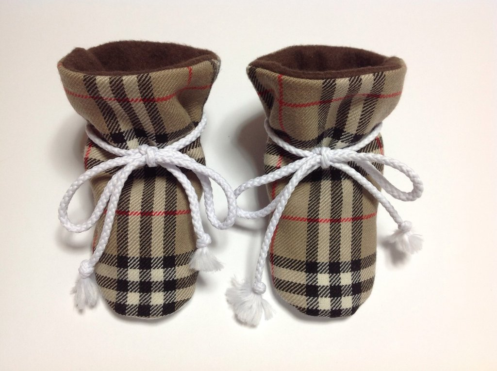 Babbucce stivaletti pura lana e pile con suola antiscivolo - Bambini 6-12 mesi