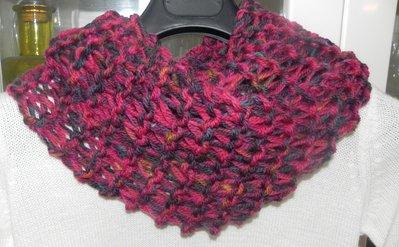 Sciarpa- scaldacollo ad anello doppio giro intorno al collo in pura lana Unisex infinity scarf