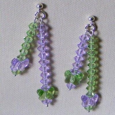 Orecchini Violet & Peridot Argento 925 & Swarovski