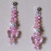 Orecchini Light Rose Argento 925 & Swarovski
