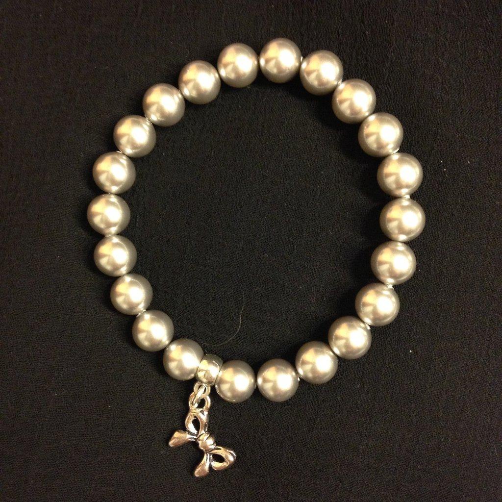 Bracciale perle swarovski Light gray