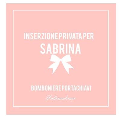 Inserzione per Sabrina bomboniere portachiavi Fattoconilcuore