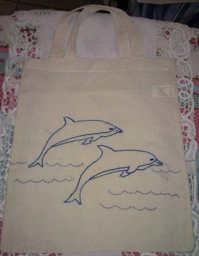 borsina cotone delfini