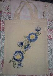 borsina cotone fiori