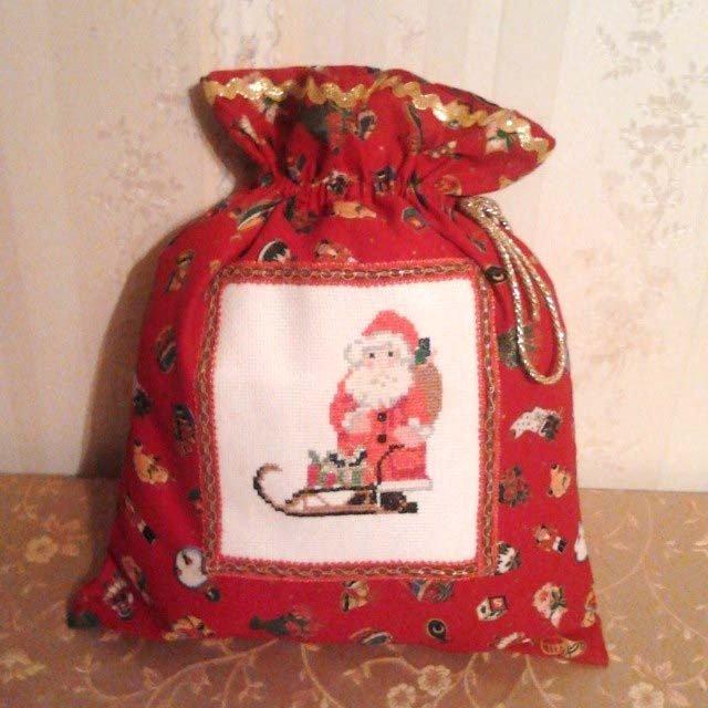 Ben noto Sacco porta regali ricamato a punto croce - Feste - Natale - di  FU17