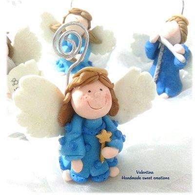 Segnaposto angelo con stellina  Regalo Natale