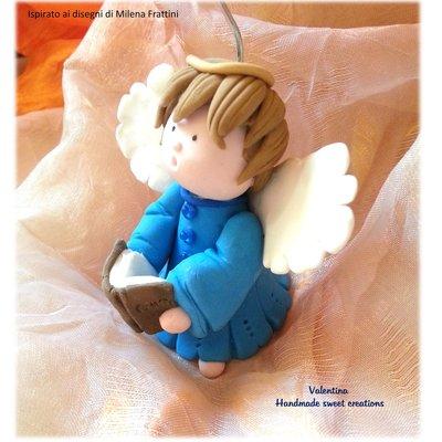 Segnaposto angelo con Libro dei canti Regalo Natale
