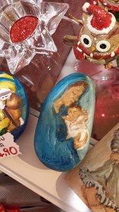 pietre dipinte natività