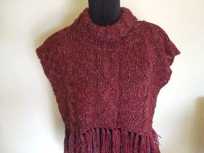 cappa copri spalle scalda collo donna lana maglia
