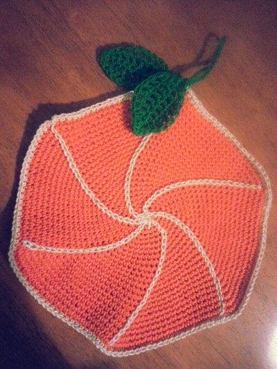 Presina fatta a mano mezza frutta arancia