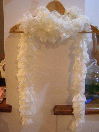 sciarpa donna arricciata con volant