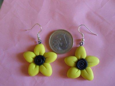 orecchini fiore fimo