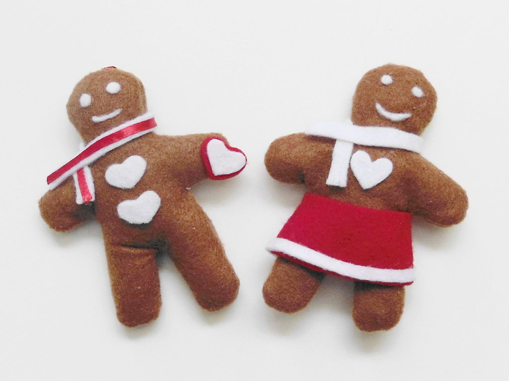 Biscotto di pandi zenzero per un dolce Natale: la decorazione natalizia in feltro per l'albero!