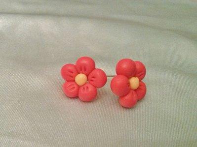 Orecchini in fimo - fiore