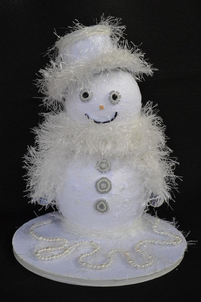 Pupazzo di neve fatto a mano idea regalo per natale