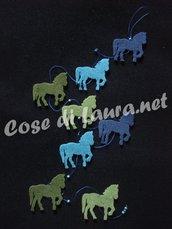 Ghirlanda decorativa cavalli
