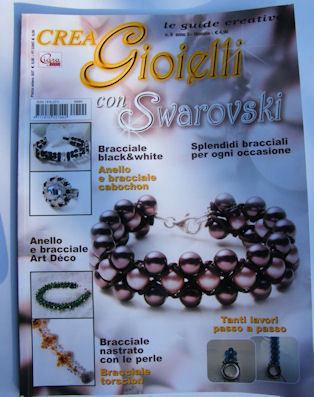 """rivista """"  CREA GIOIELLI CON SWAROVSKI """""""