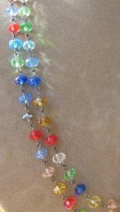 COLORFULIGHT doppio giro di cristalli colorati