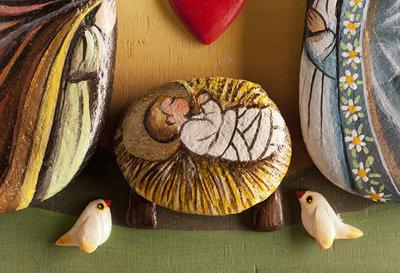 presepe da parete in legno e pietre di fiume - Per la casa e per te...  su MissHobby