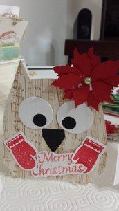 SPEDIZIONE GRATUITA! Christmas Card: un gufetto per augurare Buon Natale!