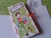 Porta lista della spesa da borsa con blocchetto e tasca per scontrini realizzato e decorato a mano