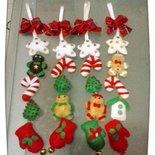 decorazioni natalizie in pannolenci realizzare a mano