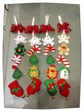 decorazioni natalizie in pannolenci realizzate a mano