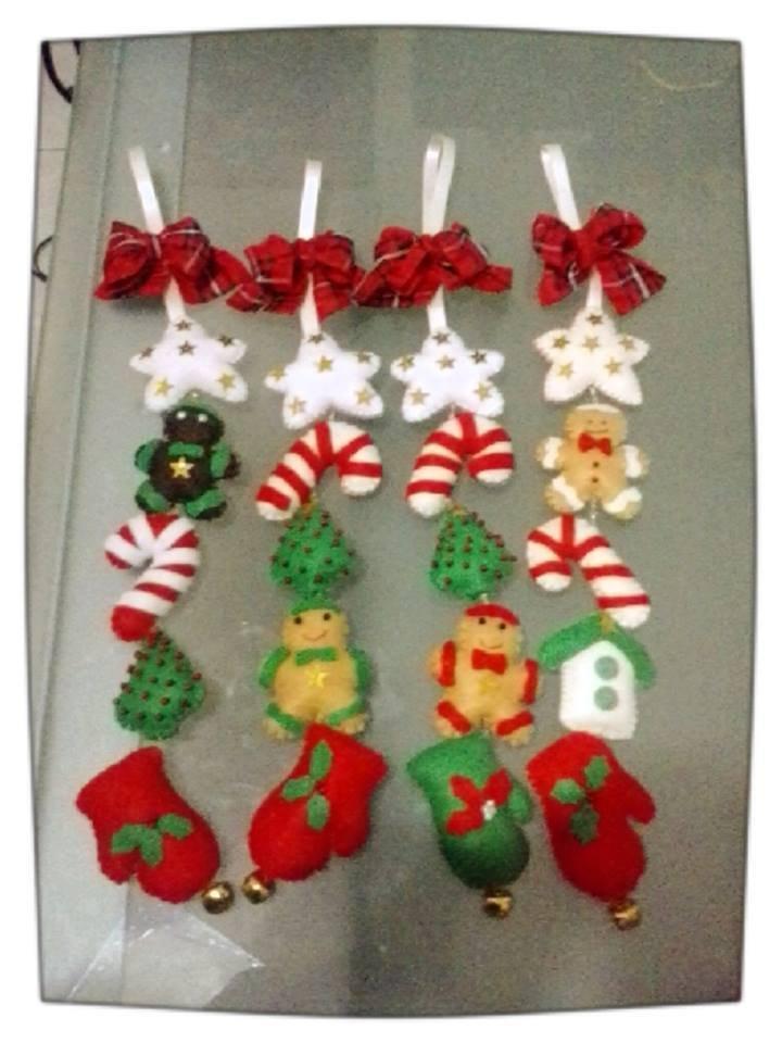 Fabuleux decorazioni natalizie in pannolenci realizzate a mano - Feste  GO46