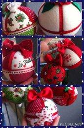 Palline - decorazioni natalizie in pannolenci realizzate a mano