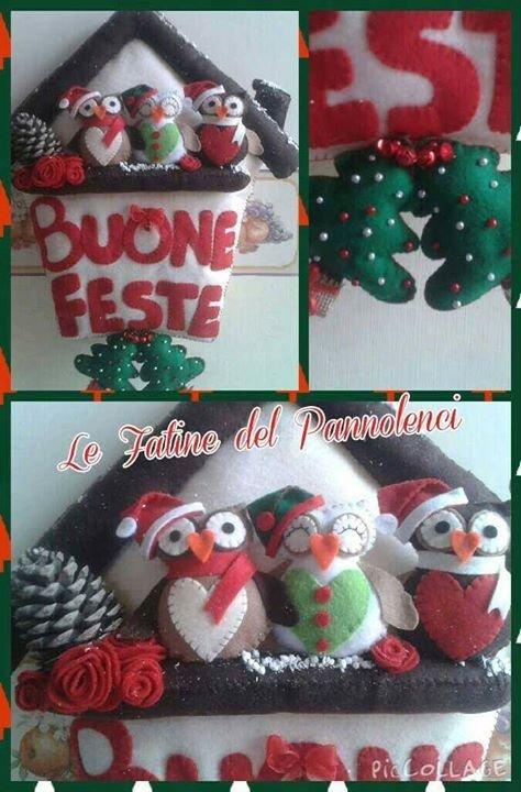 Fuori porta natalizio in pannolenci