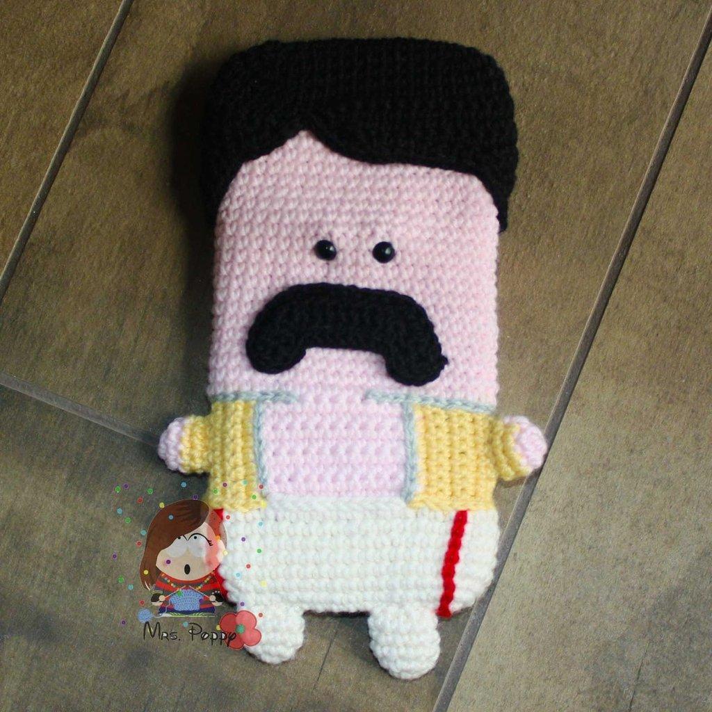 Cover  iphone 6 uncinetto amigurumi Freddie Mercury