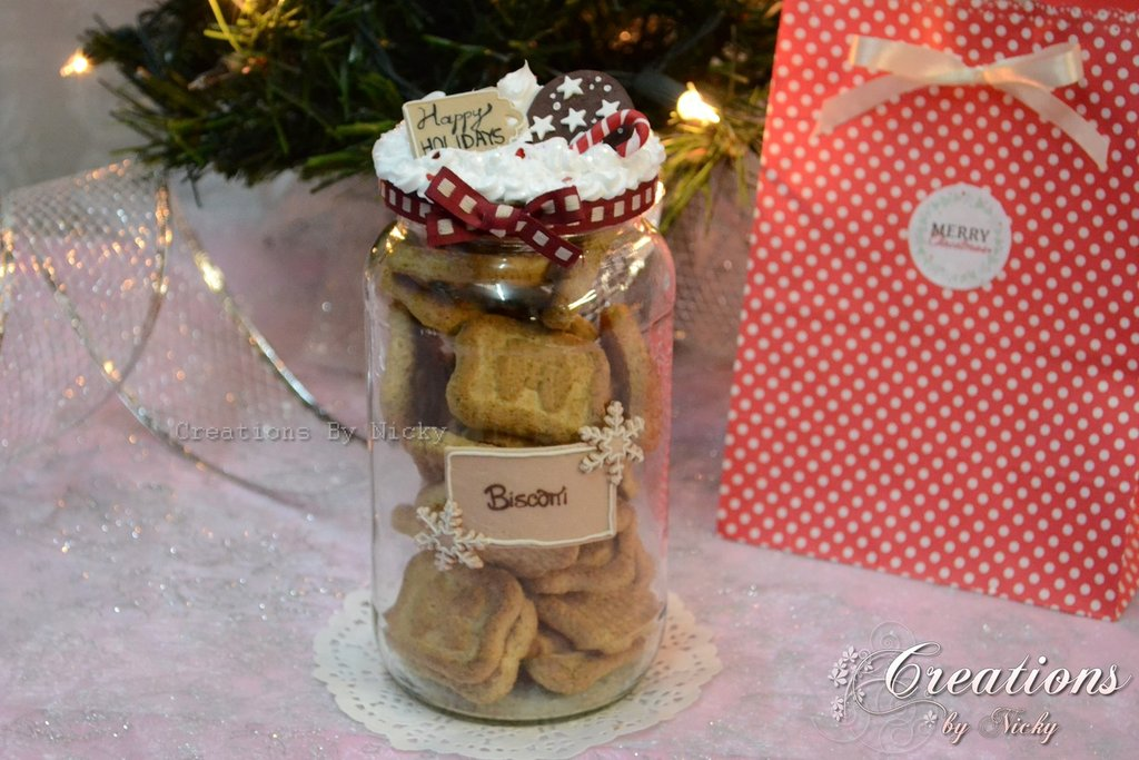Barattolo per biscotti Happy Holiday