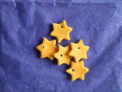 Decorazioni natalizie stelline in ceramica