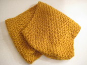 Sciarpa lana circolare color senape