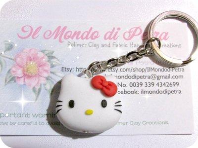Portachiavi Hello Kitty Handmade in Fimo